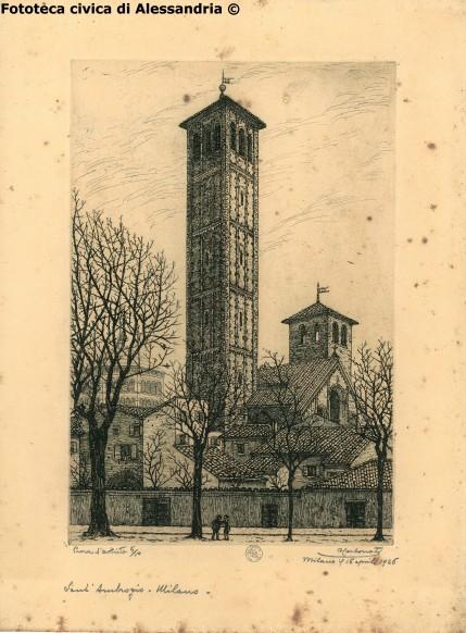 Antonio Carbonati, Sant'Ambrogio - Milano, 1926